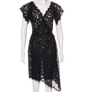 Diane von Furstenberg lace mini wrap dress